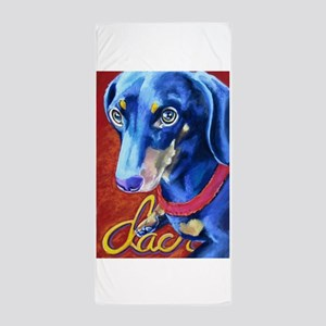 Dachshund Dog Art Portrait Beach Towel